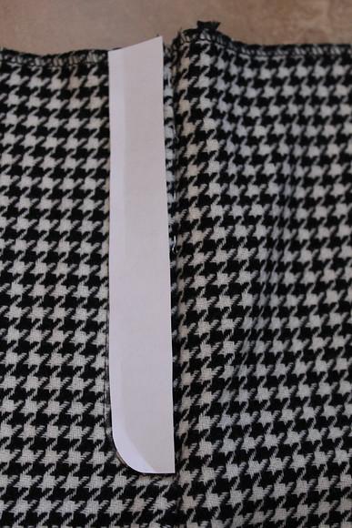 Обработка застёжки-молния вбрюках