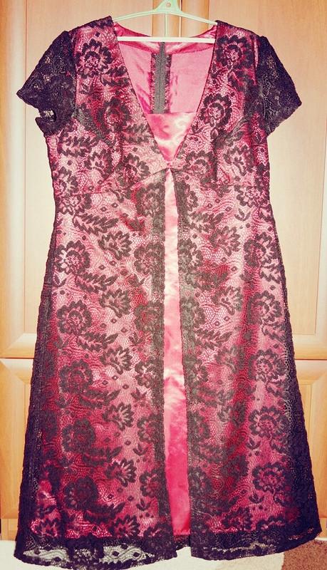 Вишневое платье длясвадьбы от Ulia Syhanova
