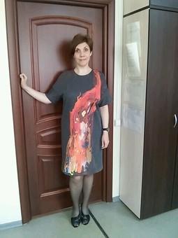 Работа с названием Платье-мешочек