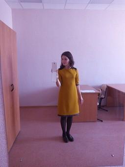 Работа с названием Прямое платье
