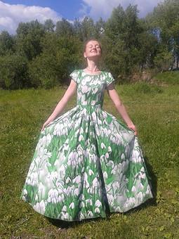 Работа с названием Платье из бязи