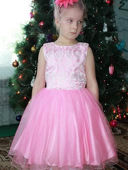 Работа с названием Праздничное платье  для девочки