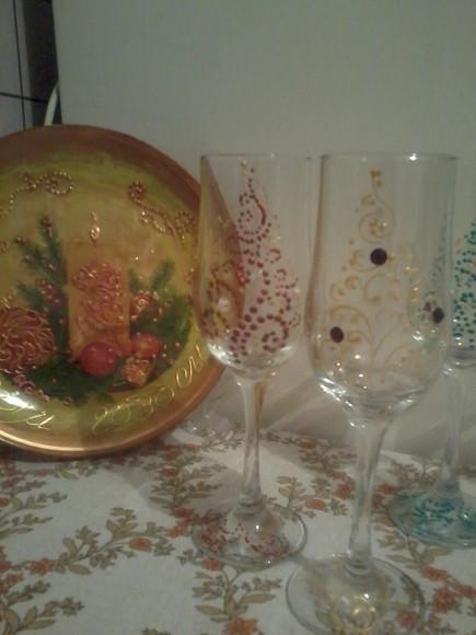 Новогодние бокалы