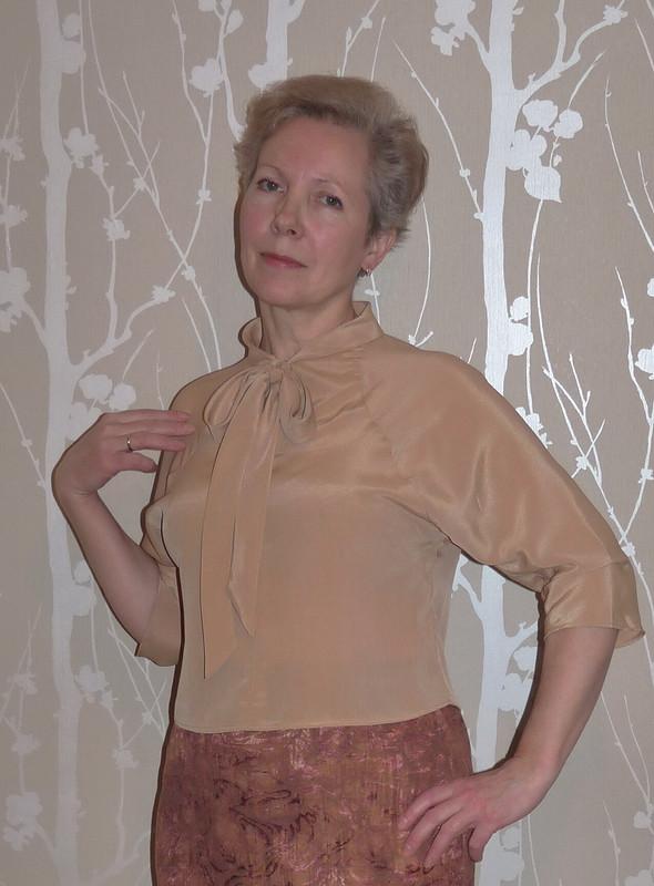 Блузка  новогодняя несостоявшаяся