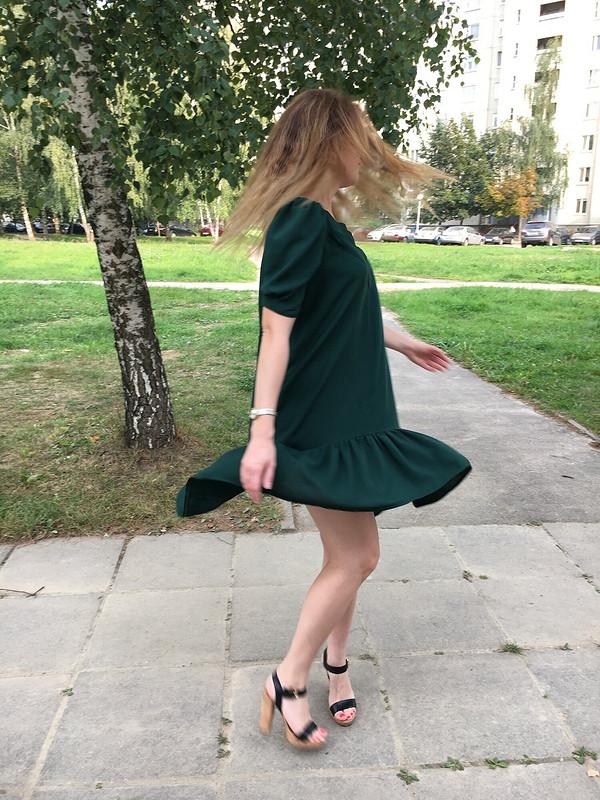 Бутылочное платье