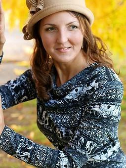 Работа с названием Осеннее платье из плотного трикотажа