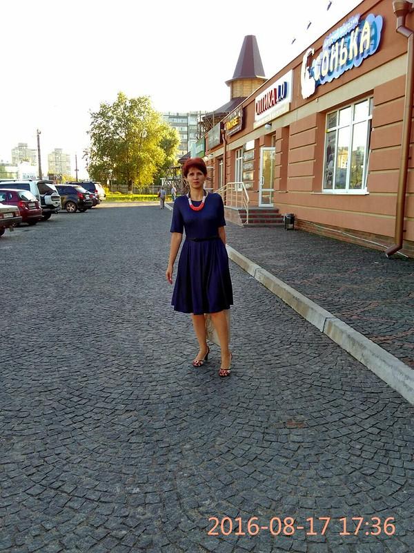 Платье цвета деним