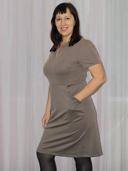 Работа с названием Легкое платье