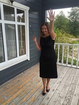 Работа с названием Платье аля Одри Хепберн на вечеринку