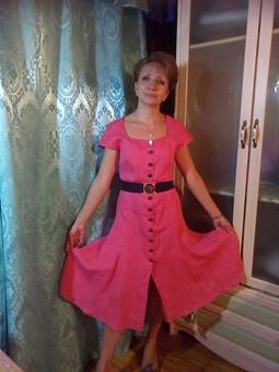 Работа с названием Платье-халат из льна