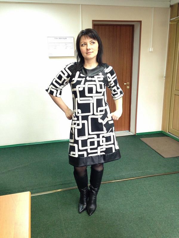 Платье «Черно-белая графика»