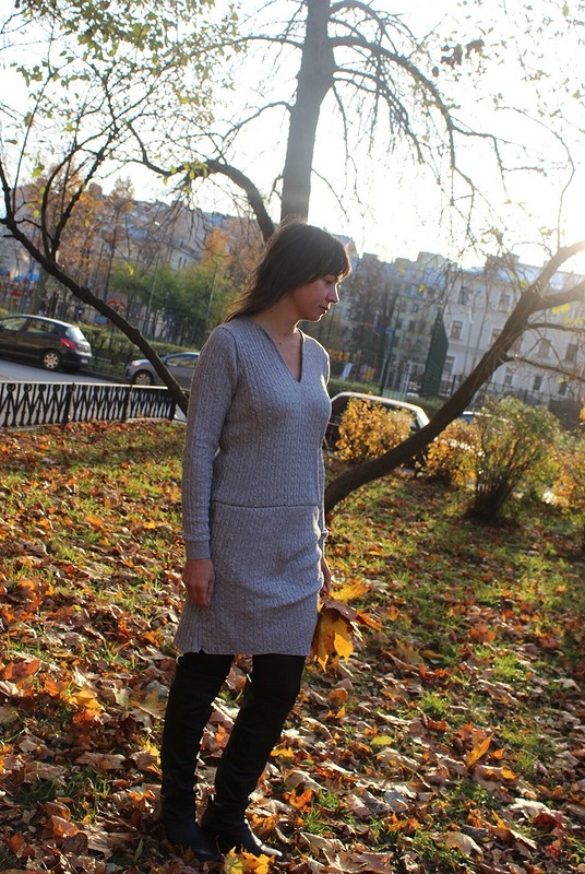 Платье издвух пуловеров