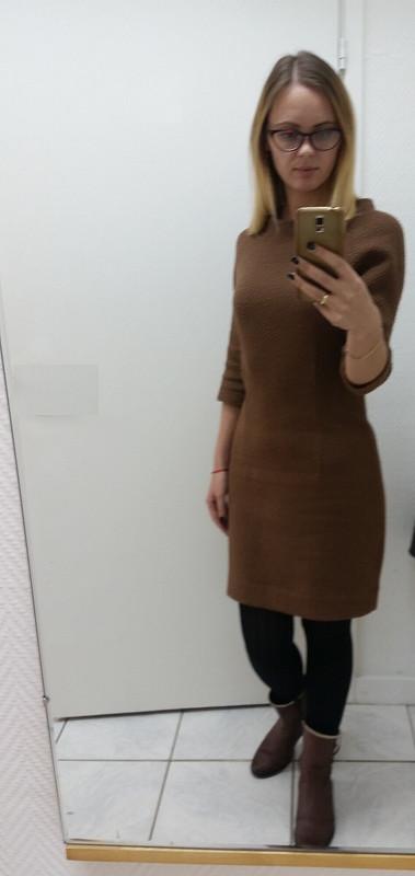 Теплое иудобное платьице от Dasha Koles