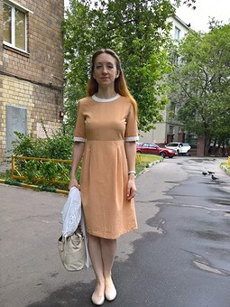 Работа с названием Платье с Отрезной Юбкой