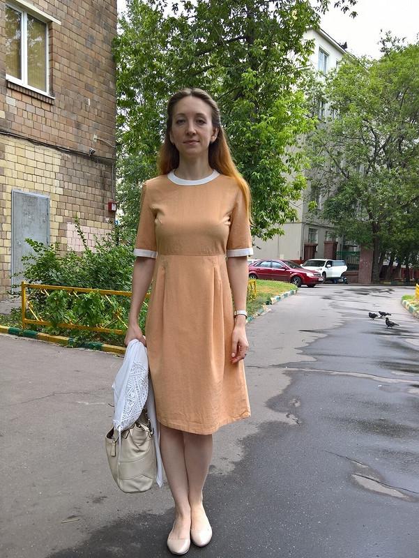 Платье сОтрезной Юбкой