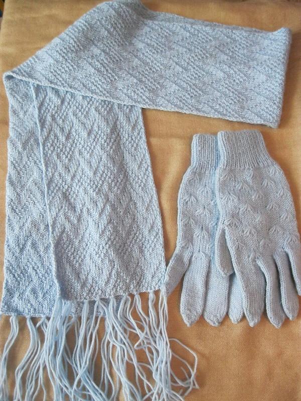Шарф+перчатки длядевочки-подростка