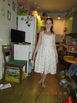 Работа с названием Первый опыт пошива платья
