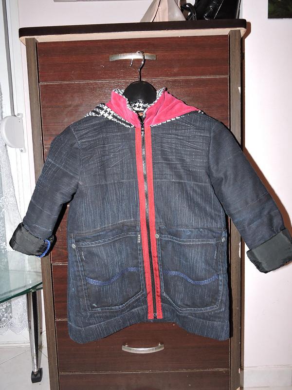 Зимняя куртка изджинс