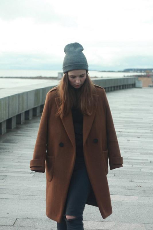 Пальто насыщенный кэмел)) от Alinus