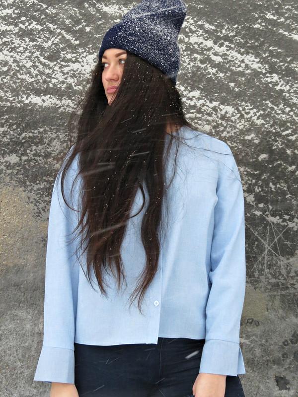 «Вся гамма синего» или реинкарнация рубашки