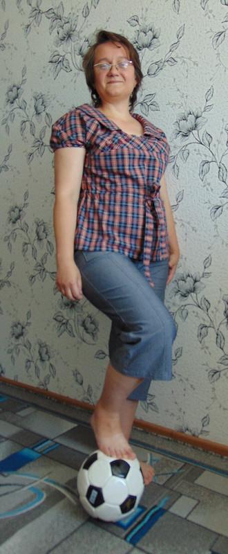Блузка вклеточку