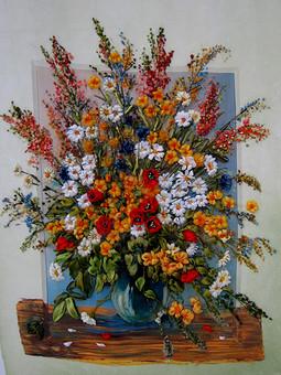 Работа с названием Летний букет полевых  цветов