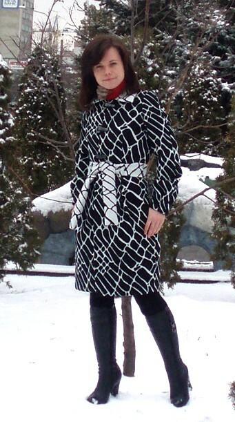 Пальто «черно-белый жираф»