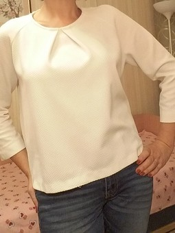 Работа с названием Блуза прямого кроя
