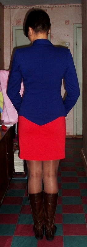 Блейзер вморском стиле иплатье