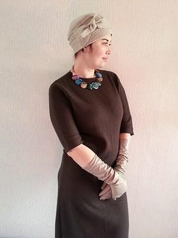 Работа с названием Трикотажное платье Армани