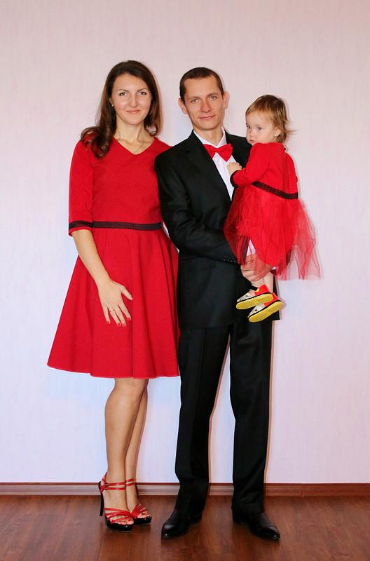 Красное платье кновому году!