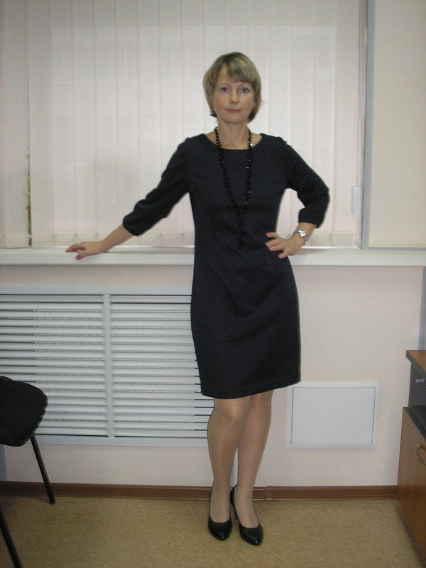 Платье-футляр дляневысоких