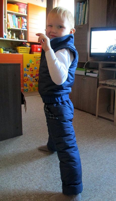Тёплый жилет- первый от koketkina