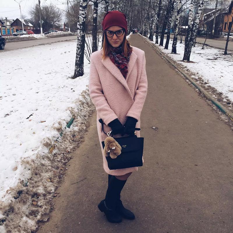 Пудровое пальто от Татьяна5