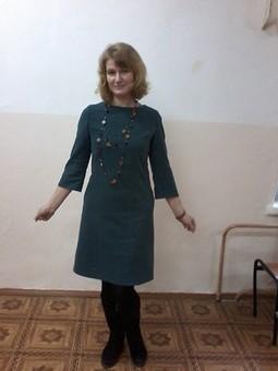 Работа с названием Уютное платье