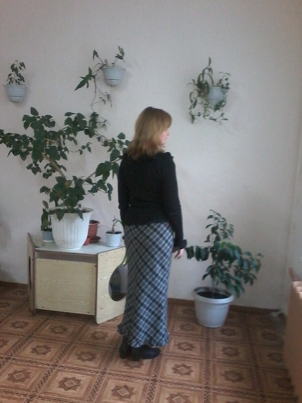 Длинная юбка соборкой