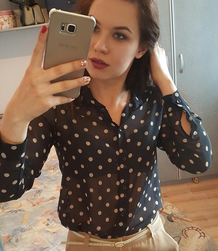 Просто гороховая блузка от Netysya