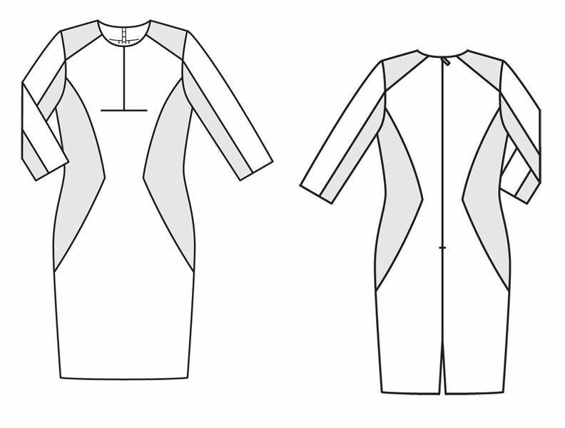 Платье сэкстравагантными рельефными швами