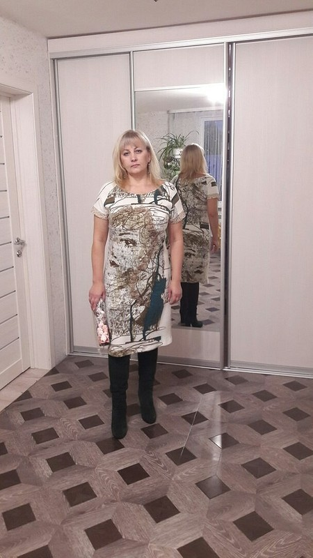 Платье трикотажное собразом девушки
