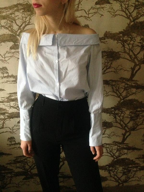 Рубашка со спущенными плечами от Paporotnik