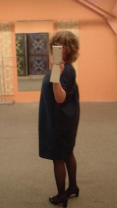 Платье шелковое синее