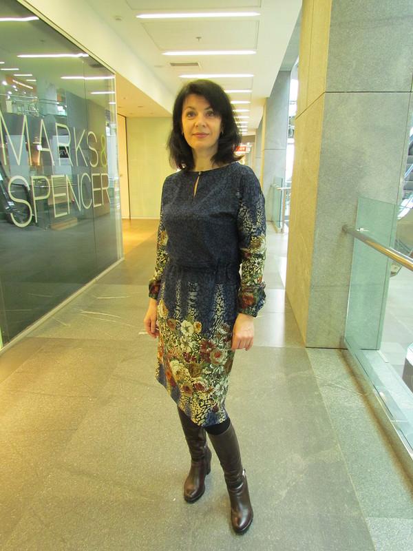 Платье сцветочным принтом