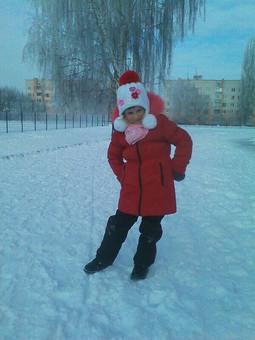 Работа с названием Модная снегурочка