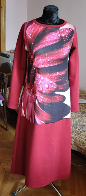 Платье исвитшот изстрейч футера исублимации насендвиче