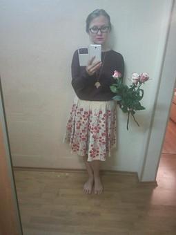 Работа с названием Цветочная юбка