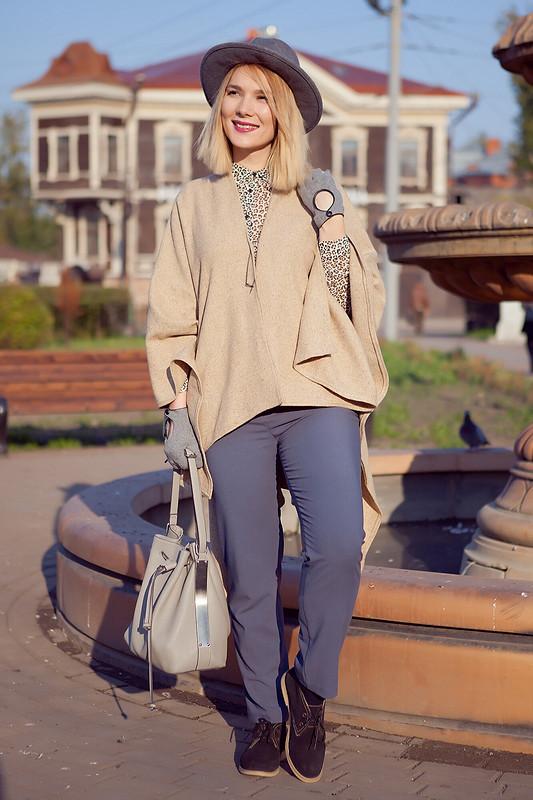 Элегантное пончо от yulyafsf