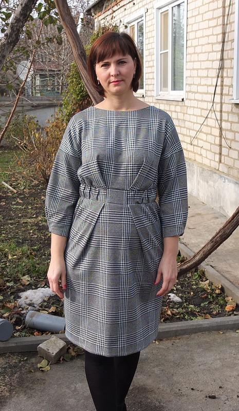Платье вклетку