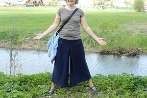 Модные кюлоты на основе прямой юбки. Часть 2 - шьем