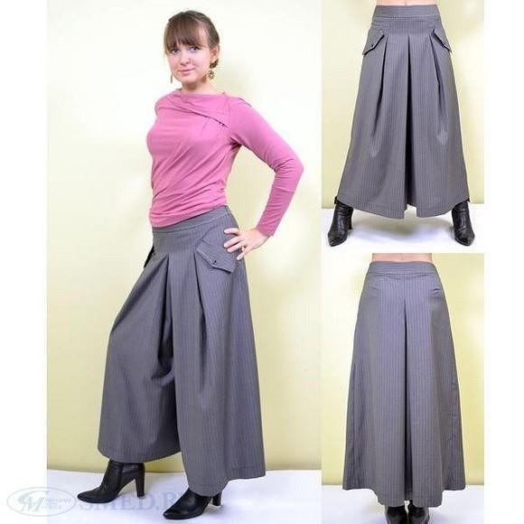 Модные кюлоты наоснове прямой юбки. Часть 1 - выкройка