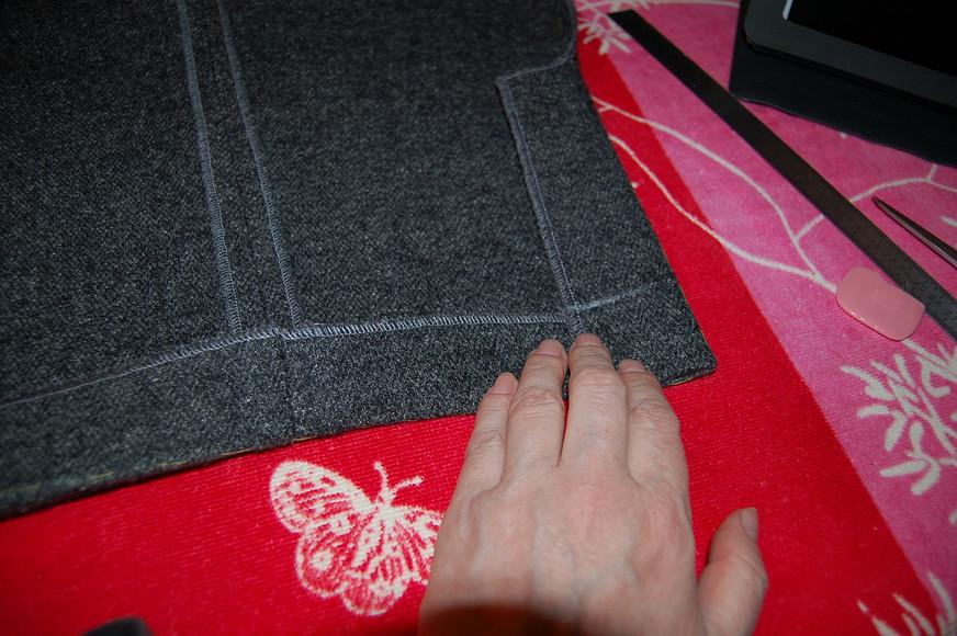 Обработка шлицы рукава